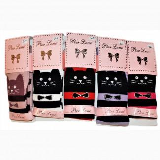 Демисезонные колготки Pier Lone для девочек с рисунком кошки