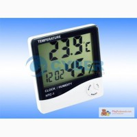 Элекронные часы с цифровым гигрометром и термометром