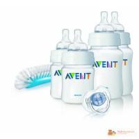 Продам новый Philips AVENT набор бутылочек щетка и пустышка