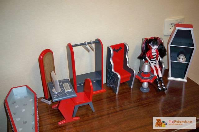 Мебель и аксессуары для кукол монстер хай своими руками