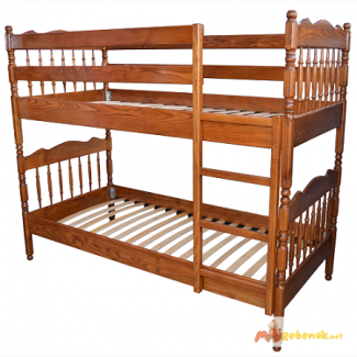 Двухъярусная кровать Трансформер массив ясеня