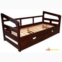 Подростковая кровать из дерева с ящиками Лаура