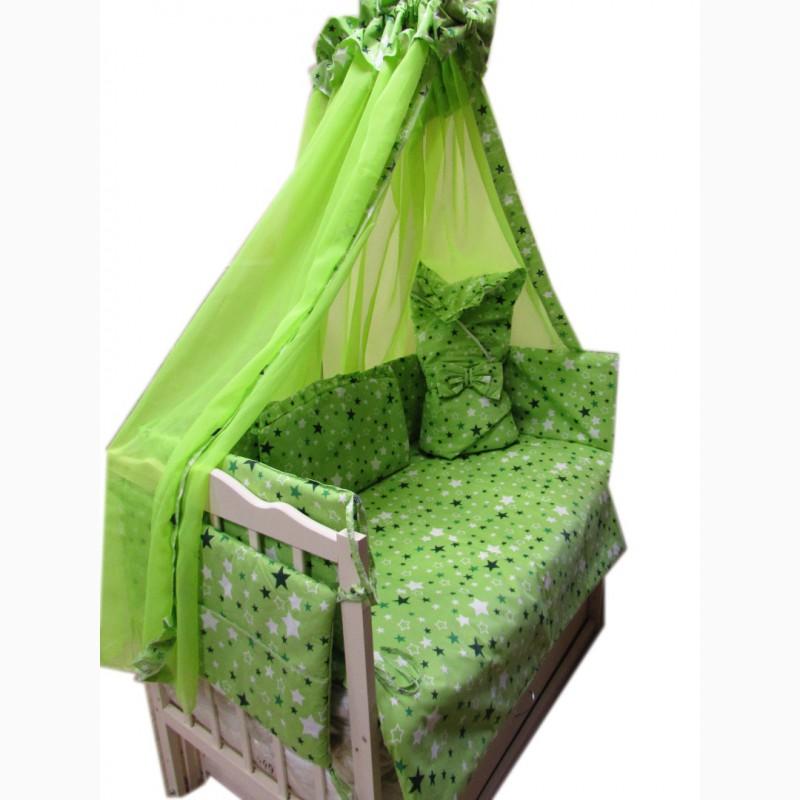 Фото 3. Акция! Набор в кроватку: Комплект постельного 8 элементов + матрас КПК 7 см + держа