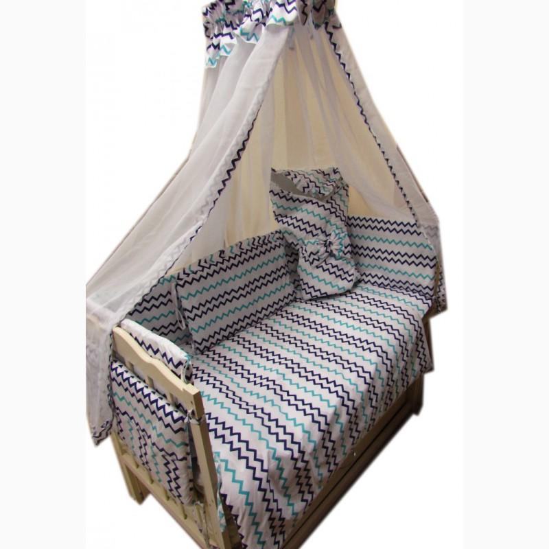 Фото 4. Акция! Набор в кроватку: Комплект постельного 8 элементов + матрас КПК 7 см + держа