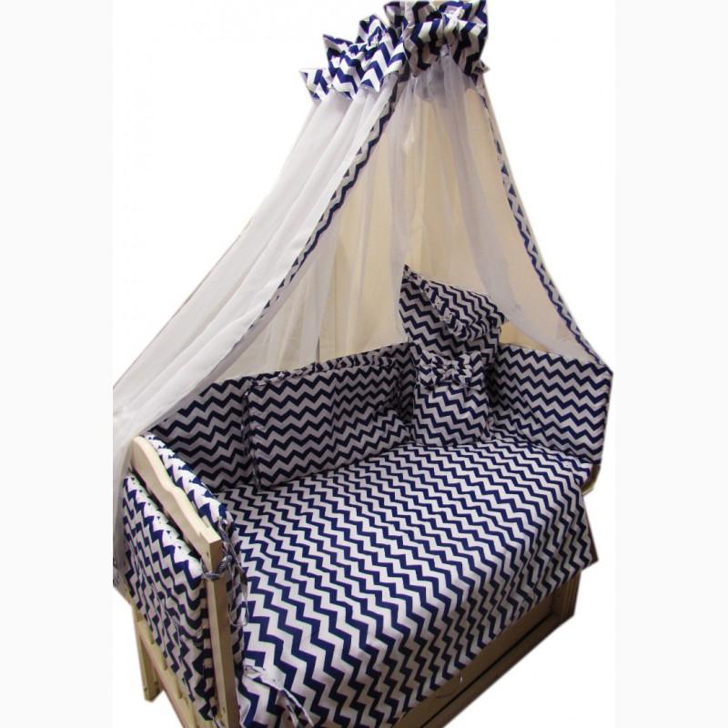 Фото 5. Акция! Набор в кроватку: Комплект постельного 8 элементов + матрас КПК 7 см + держа