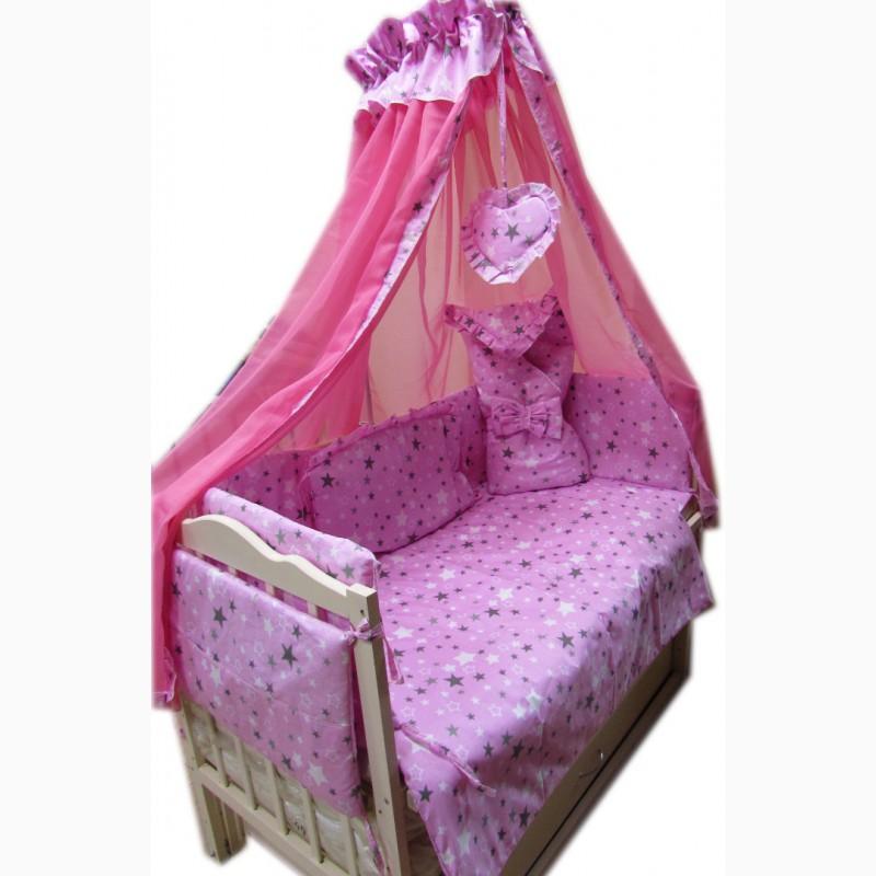 Фото 6. Акция! Набор в кроватку: Комплект постельного 8 элементов + матрас КПК 7 см + держа