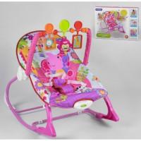 Шезлонг-качалка 8617, 3 игрушки, музыка, вибрация