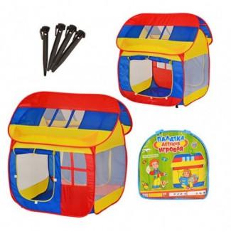 Палатка игровая Домик 905M в сумке из водоотталкивающей ткани размер 111*107*104 см