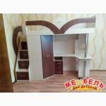 Кровать-чердак с рабочей зоной (кл6) Merabel