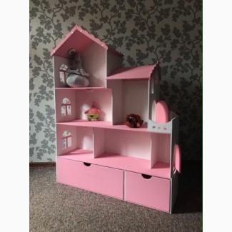 Крутой кукольный домик с вместительными ящиками