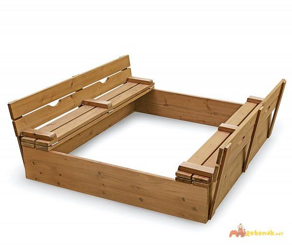 Детская песочница деревянная pes-3
