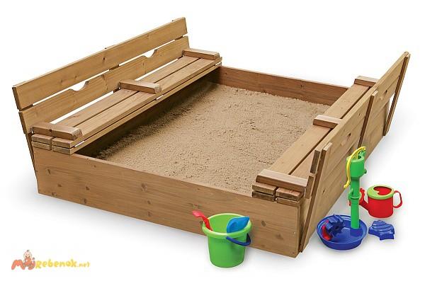 Фото 2. Детская песочница деревянная pes-3