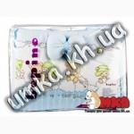 Комплект детского постельного белья Bepino Мишки Дети голубой