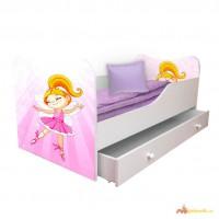 Кровать детская с рисунком 140 70см + ящик