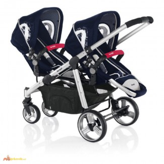 Twin stroller (2 strollers +2carrycots +2car seats) Ovo Twin 051