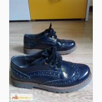 Туфли школьные Моне 34р 22.5cм синие лак - 600 грн
