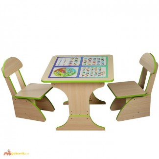 Детский стол и стулья Обучающие