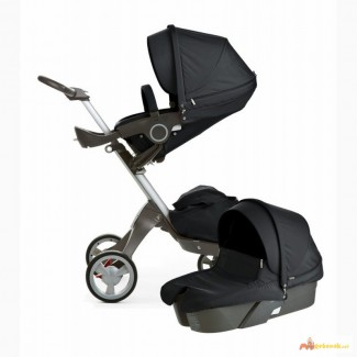2015 Stokke Xplory V4 Stroller Newborn Package - Black