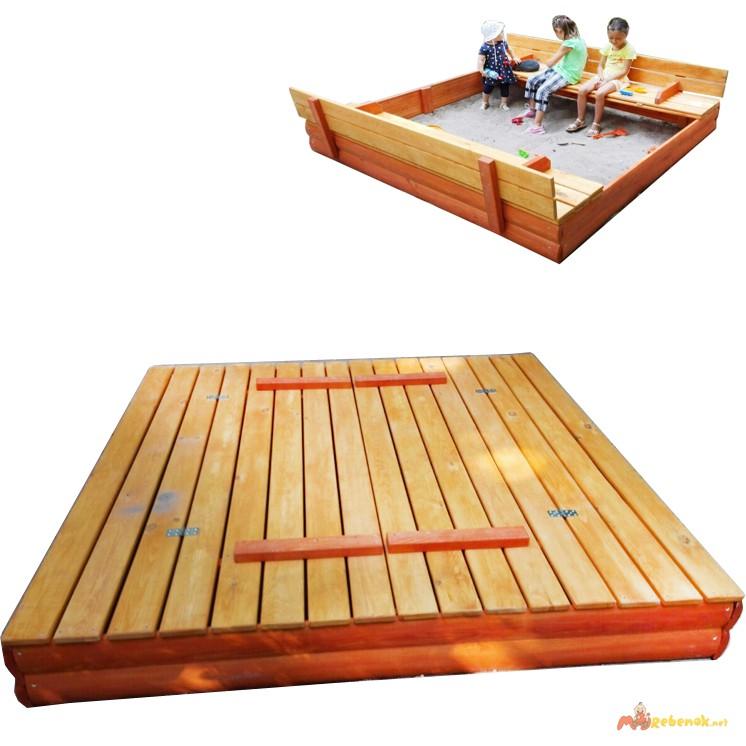 Фото 3. Песочницы детские деревянные 200см с крышкой Kindergray